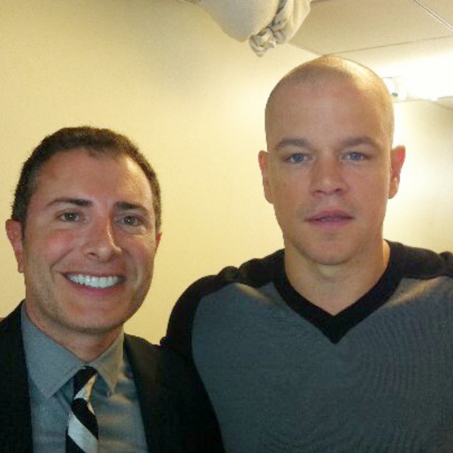 With Matt Damon