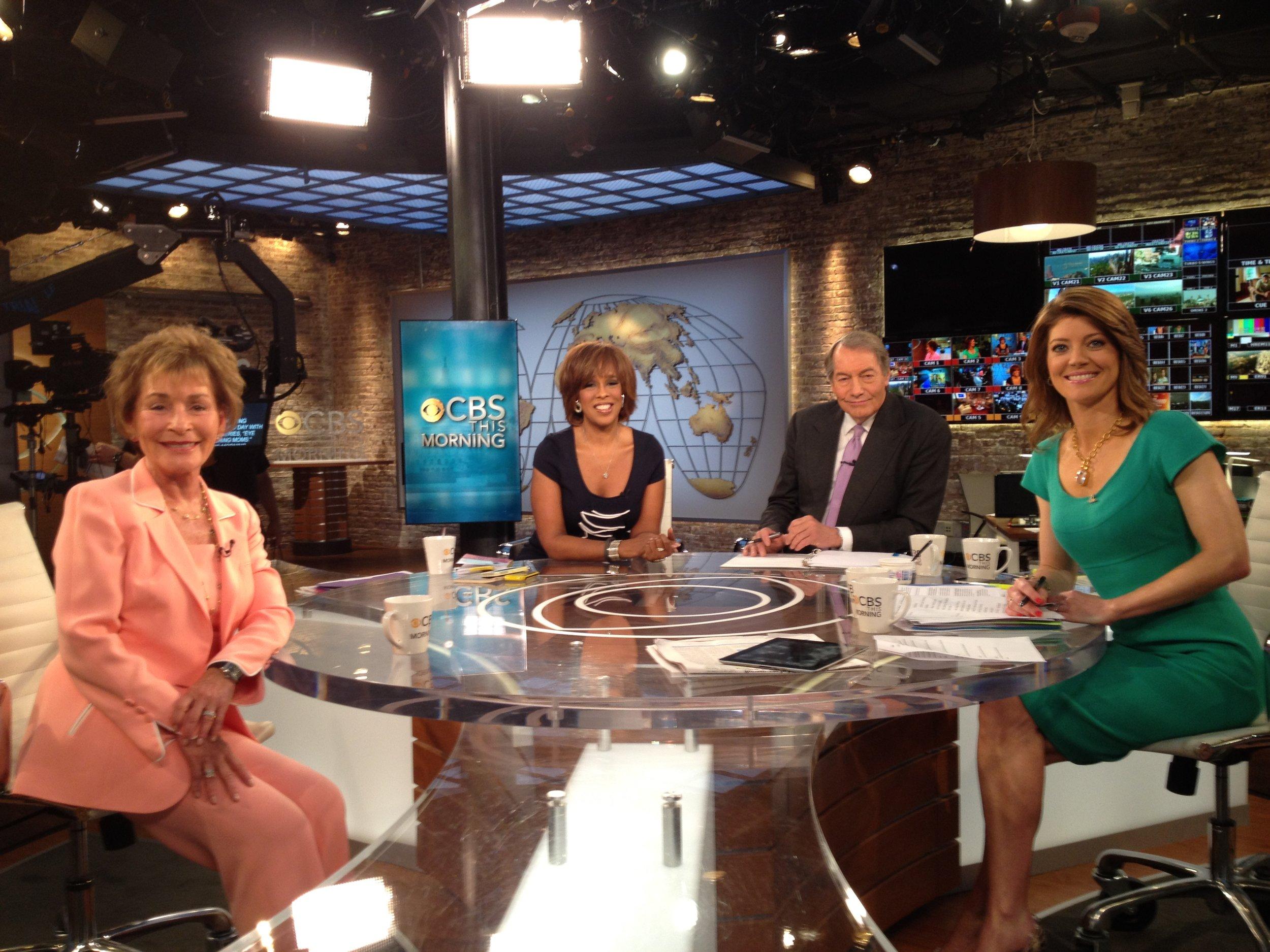 Judge Judy on CBS This Morning