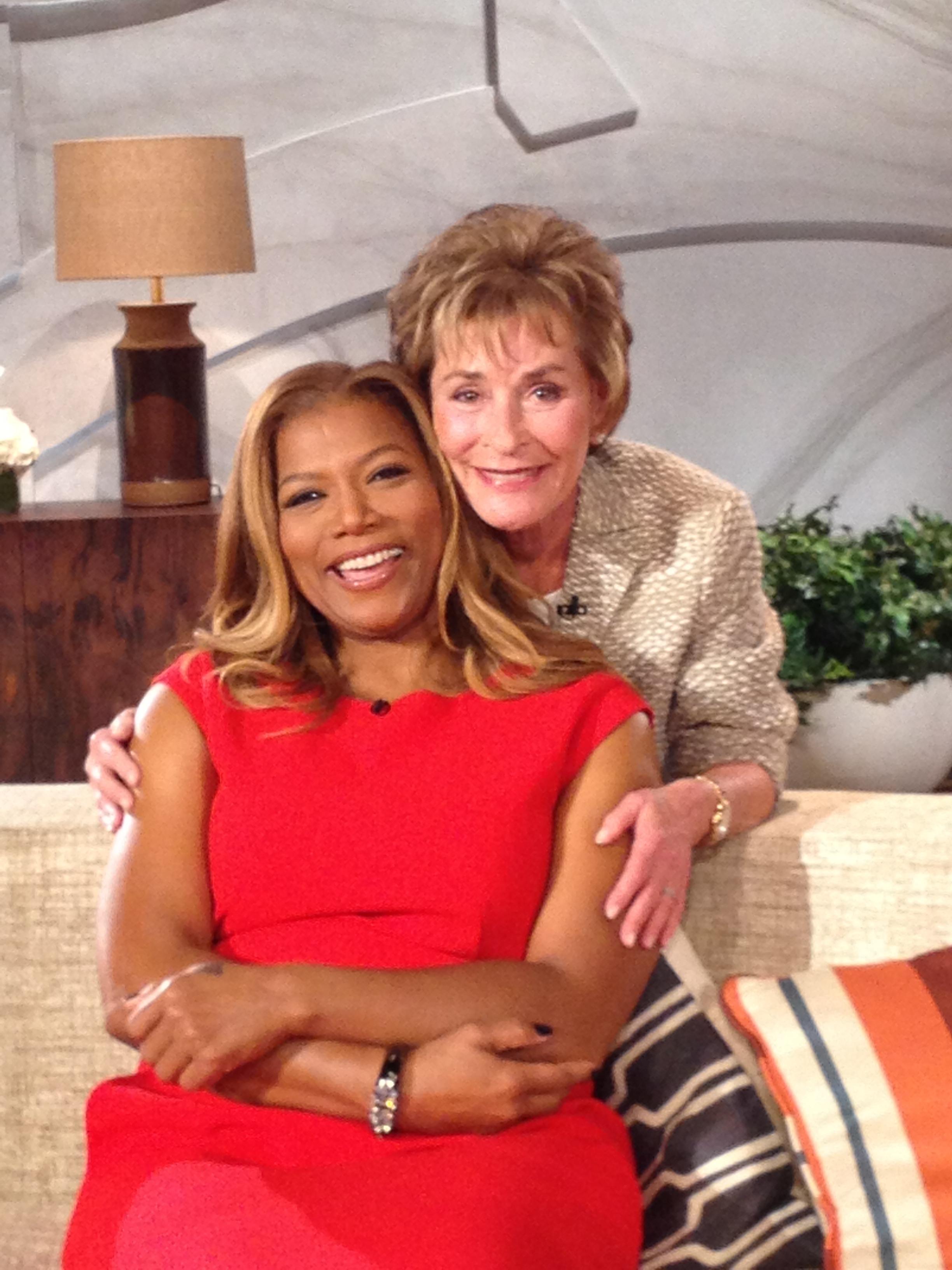 Judge Judy with Queen Latifah