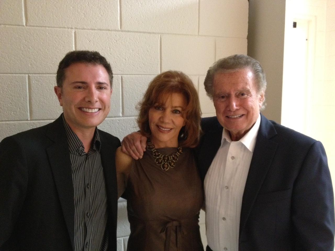with Joy and Regis Philbin