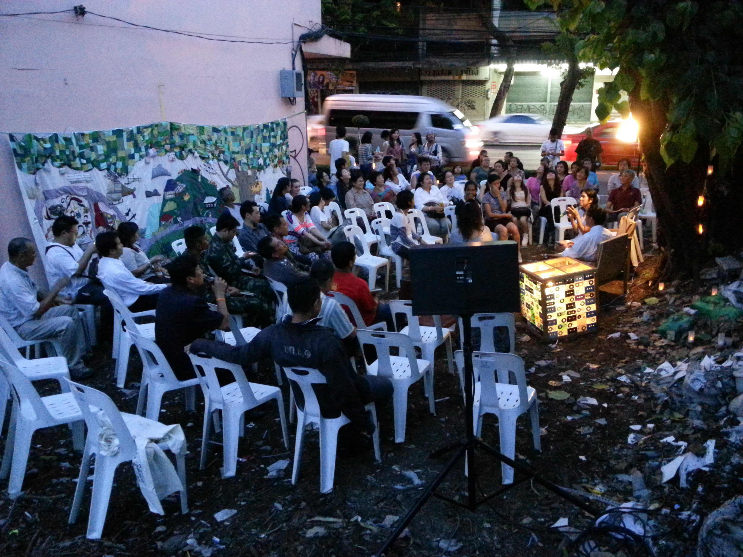The first community event at the Dancing House in Nang Lerng, Bangkok