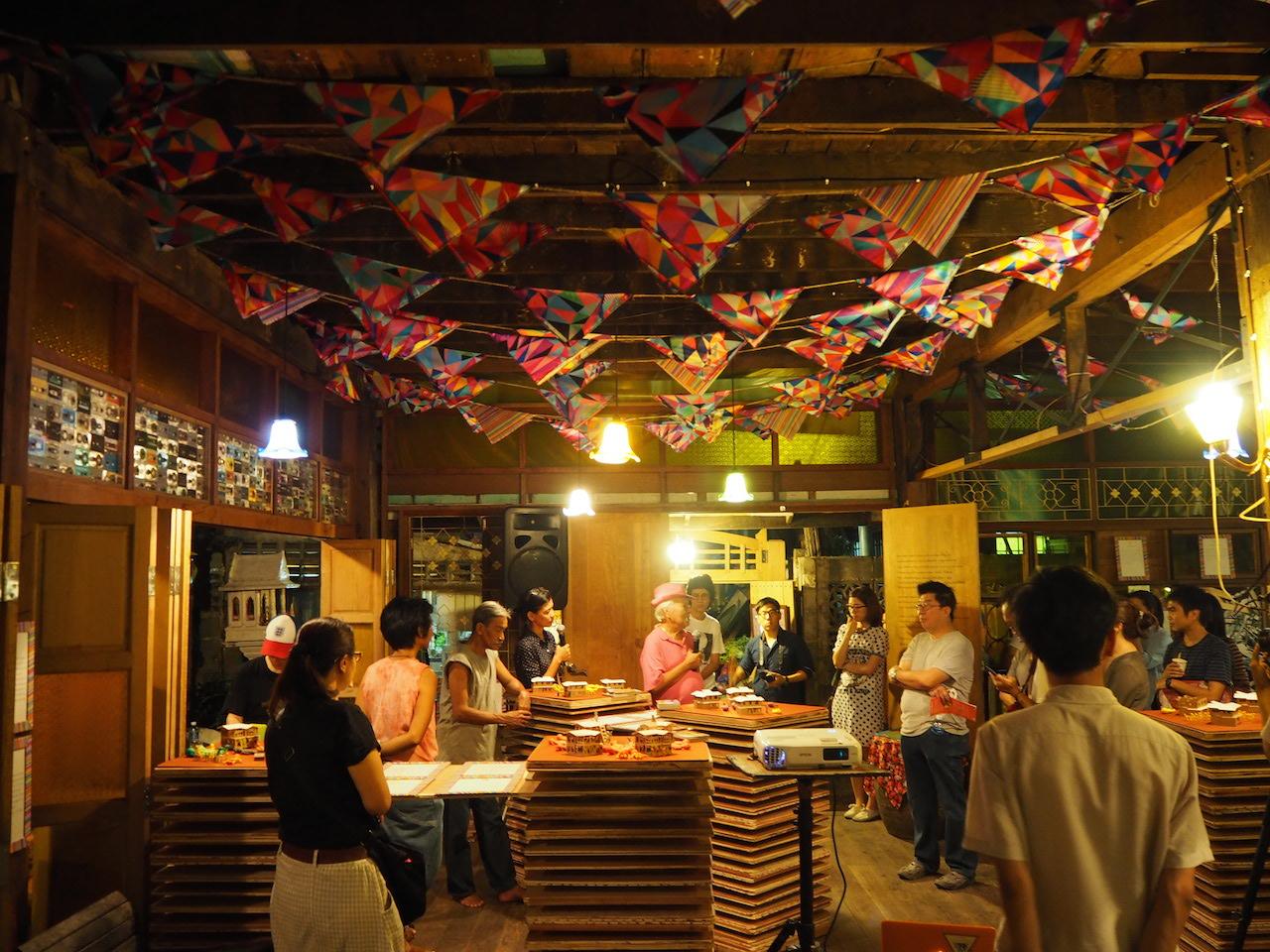 Exhibition at the new community space at the Dancing House in Nang Lerng, Bangkok