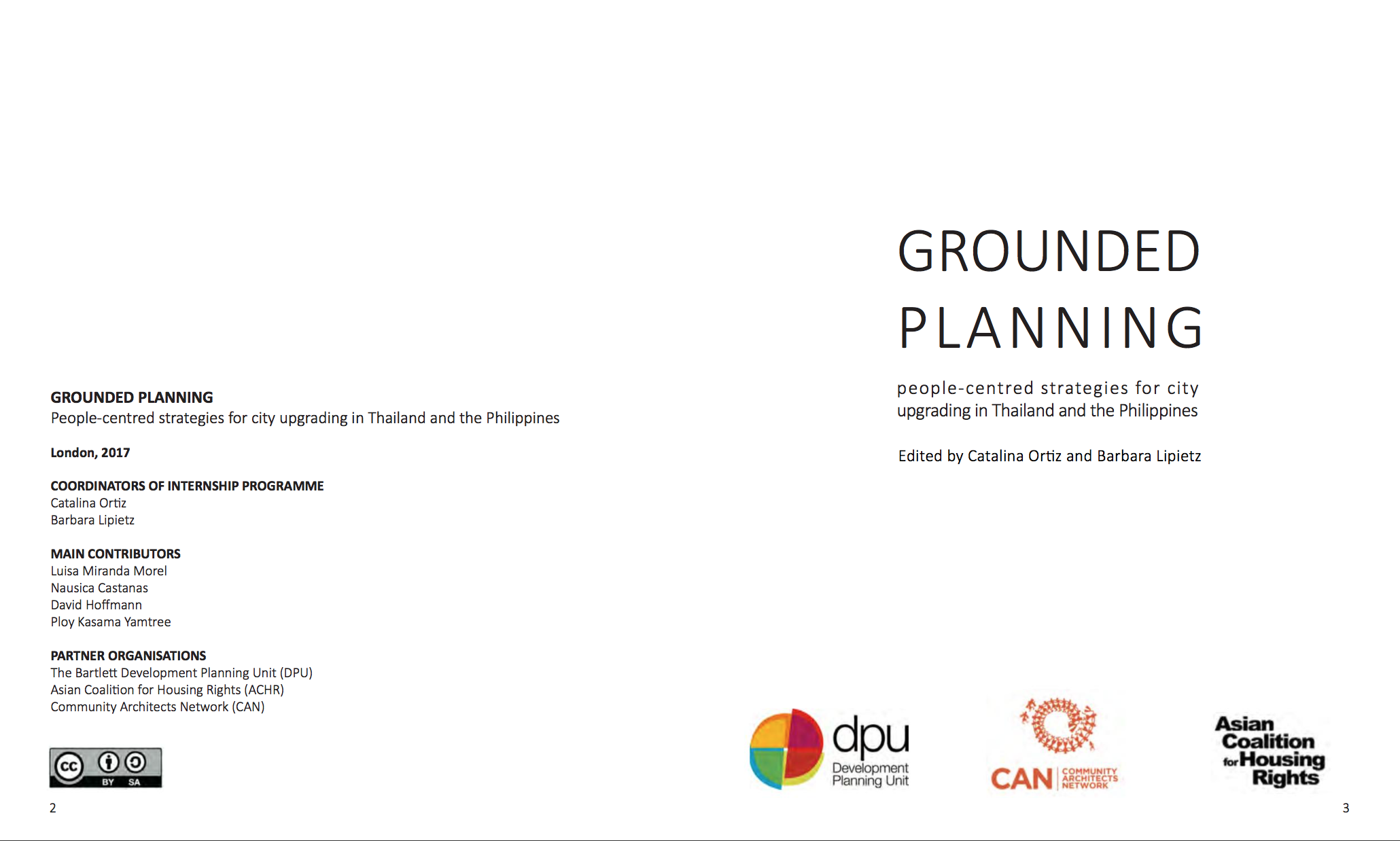 Grounded Planning:  People-Centred Strategies for City Upgrading in Thailand and the Philippines