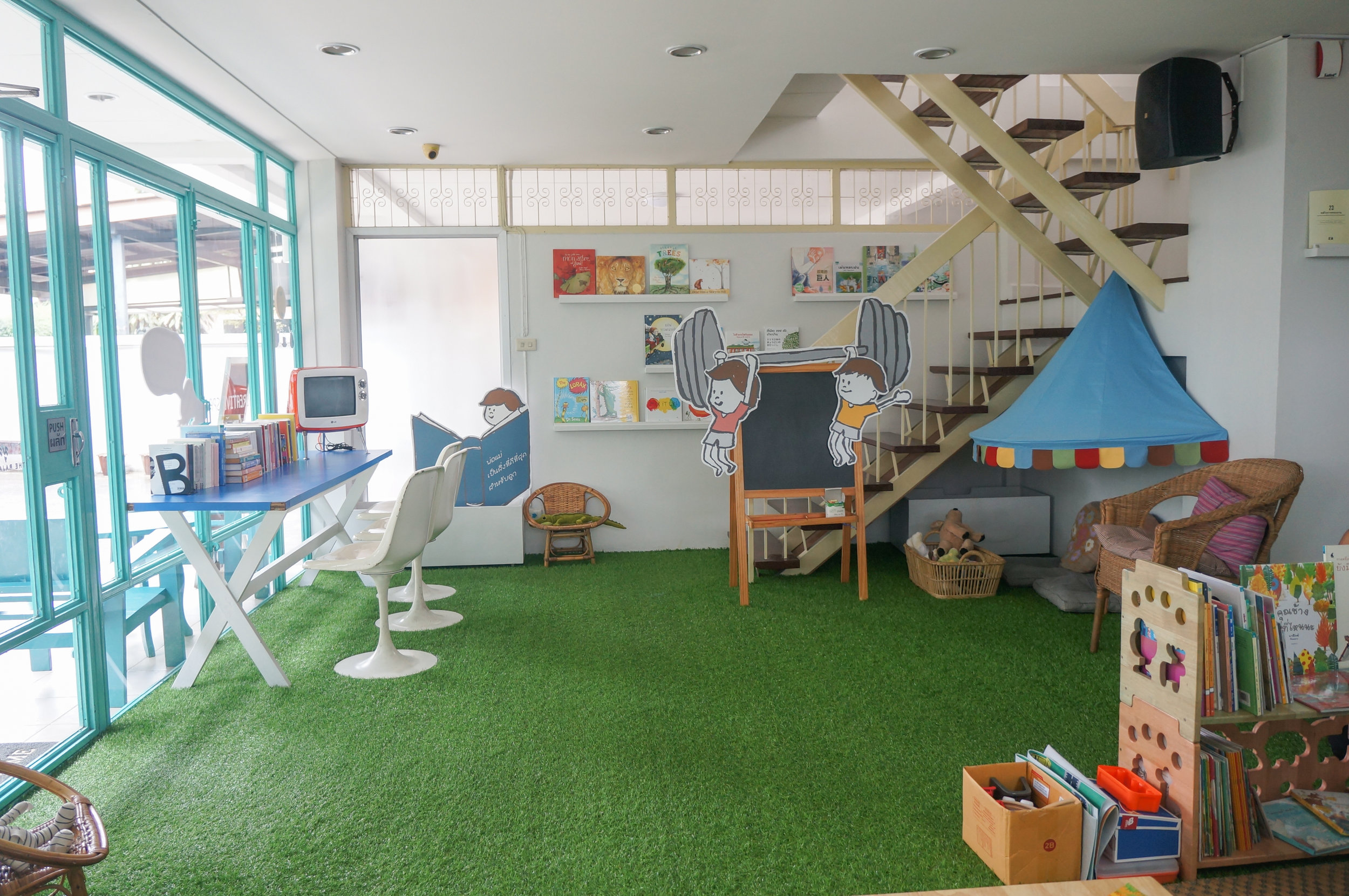 Blue Door Creative Space: The island room for kids