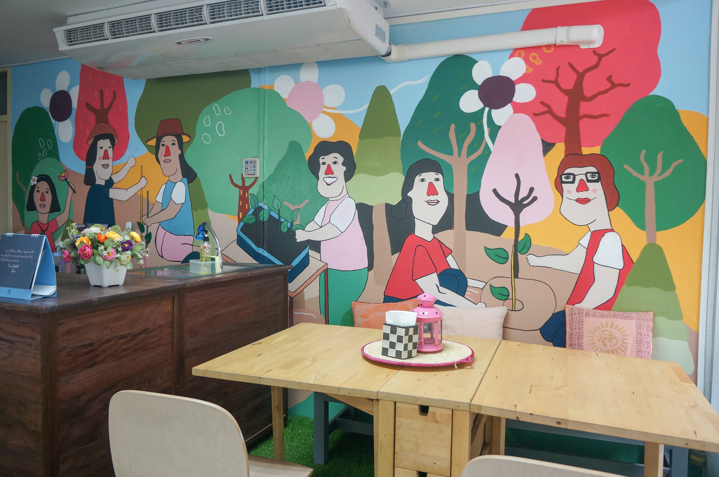 Blue Door Creative Space: Mural by artist