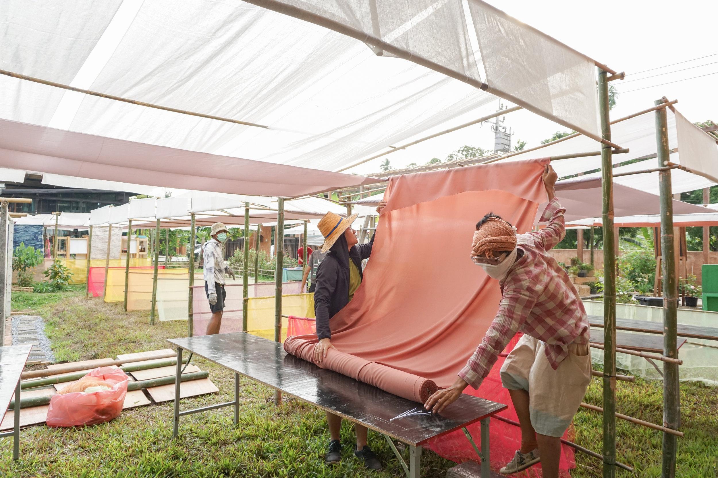Openspace team building the Thai City Farm Festival on organic farming
