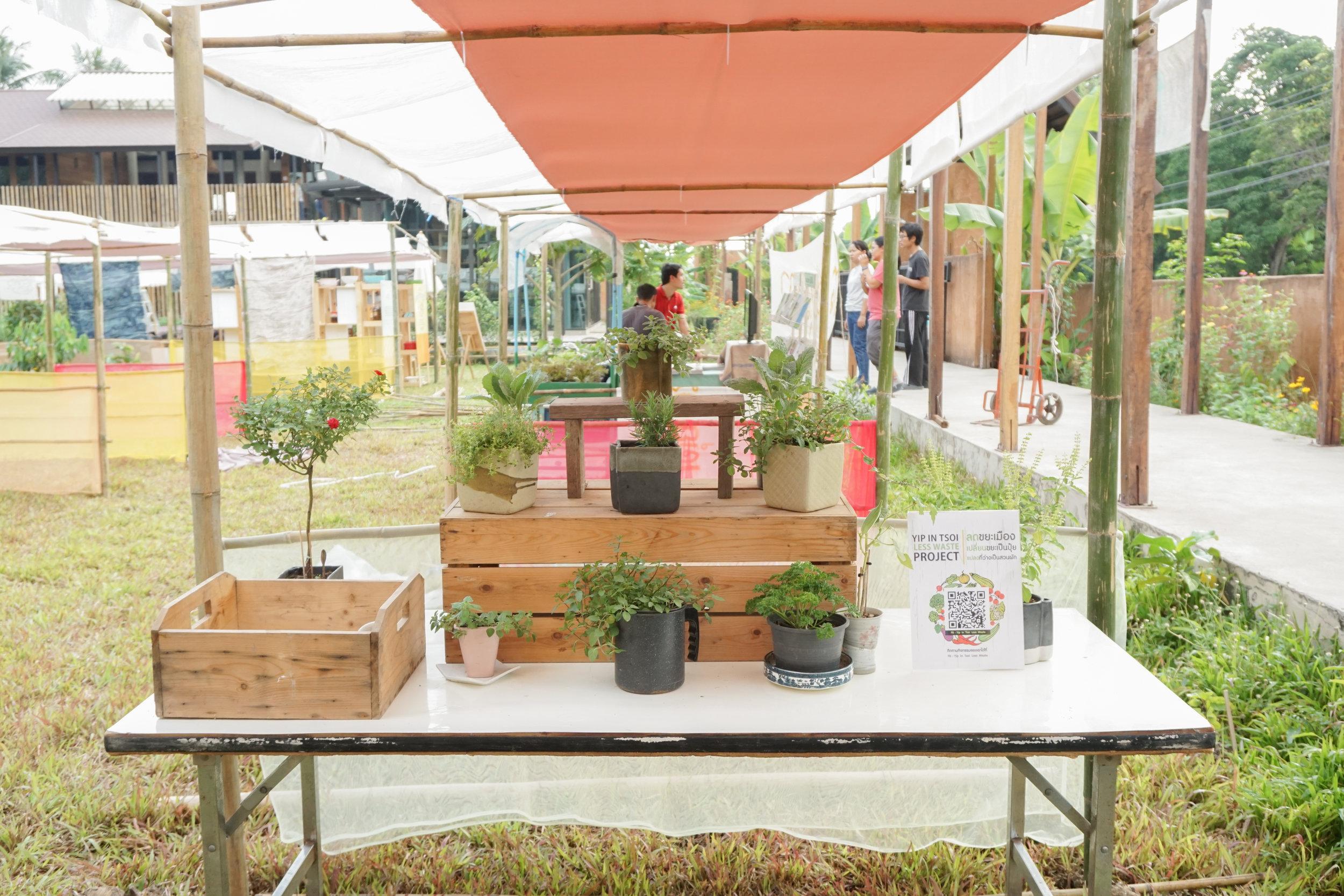 Exhibitors at the Thai City Farm Festival in Nonthaburi province