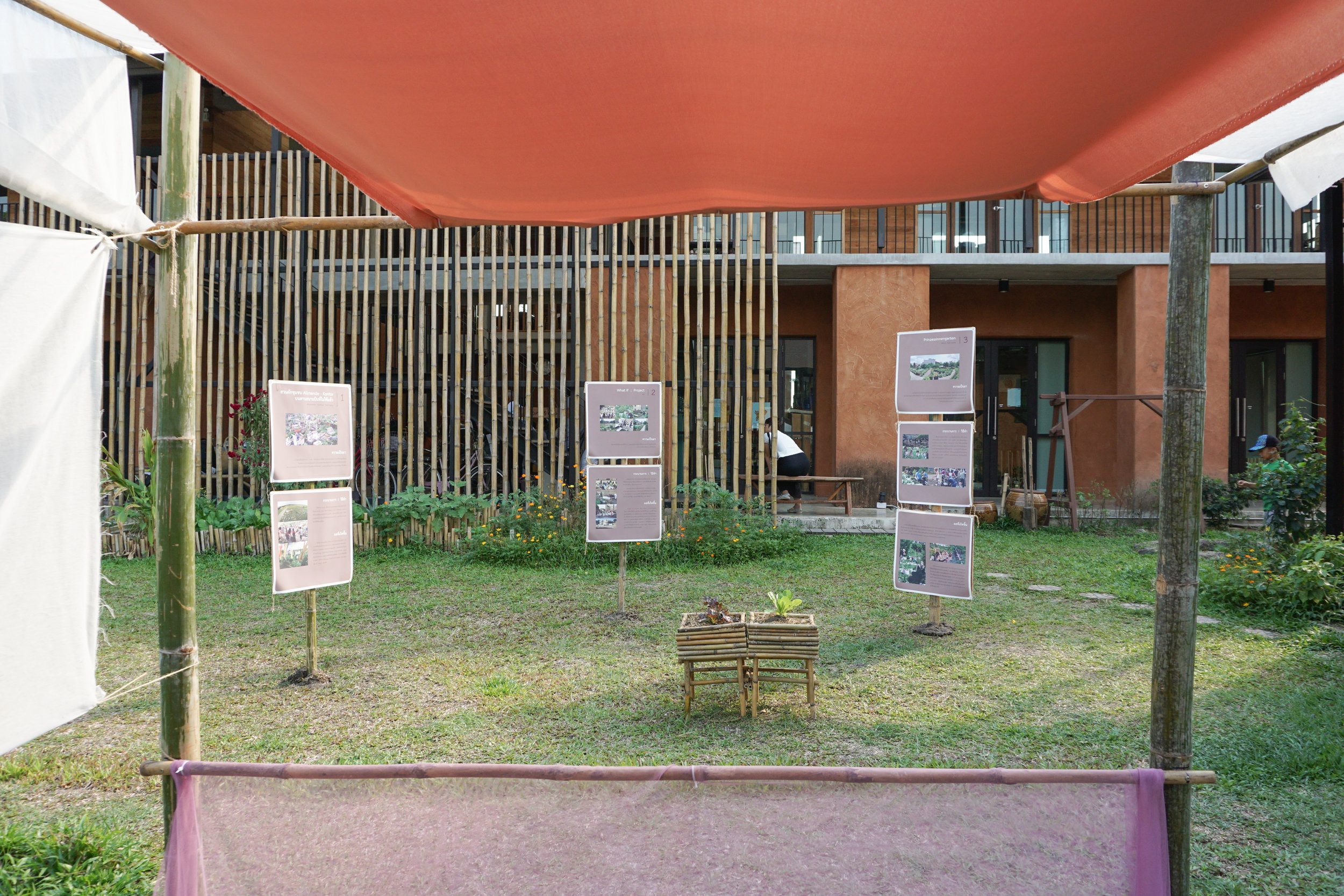 The urban farming exhibition at the Thai City Farm Festival in Nonthaburi province