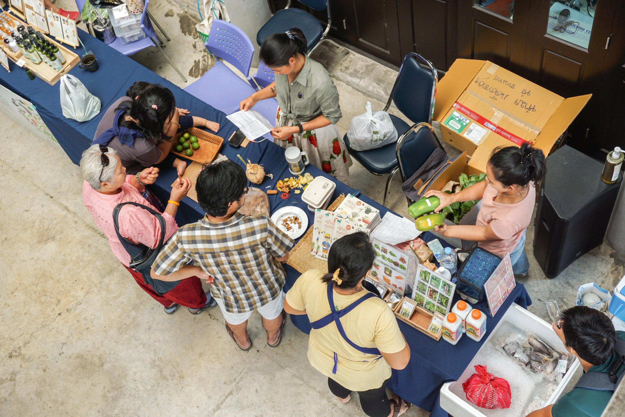 Thai City Farm Festival 5 on organic farming in Nonthaburi province