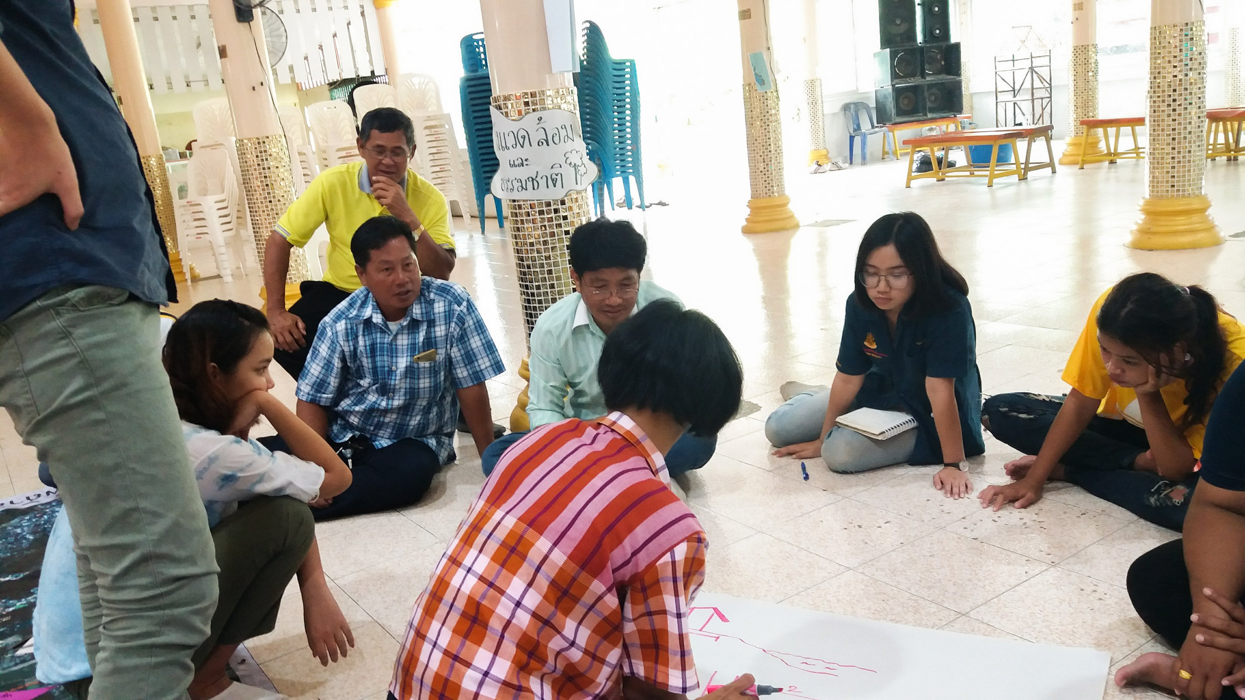 CODI at Bueng Se Nat: community member mapping the city's resources, problems, and opportunities in Nakhon Sawan, Thailand