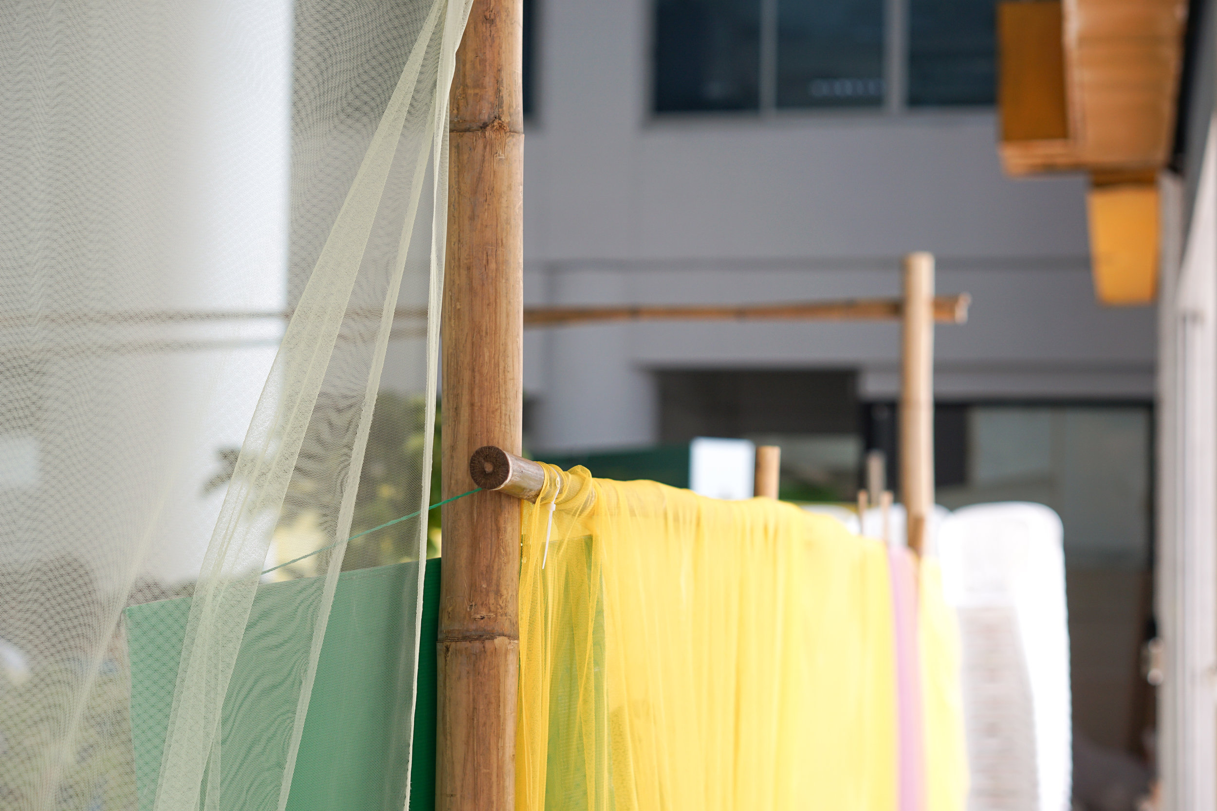 City Farming for a Sustainable City Event: Reusing materials and coloured fabrics