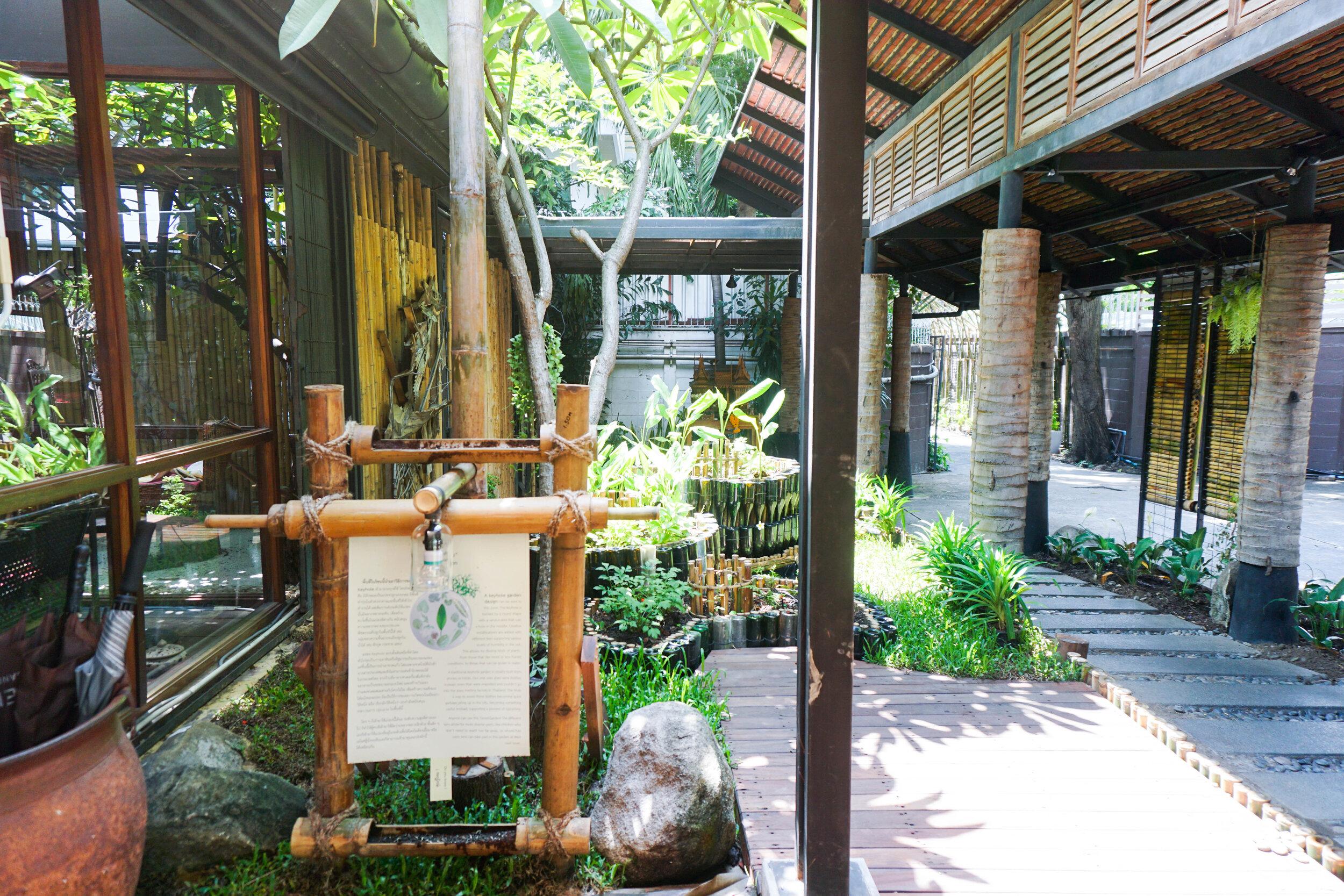 Bo.lan Edible Garden: Informative panel in ZONE B - The Tiered Garden