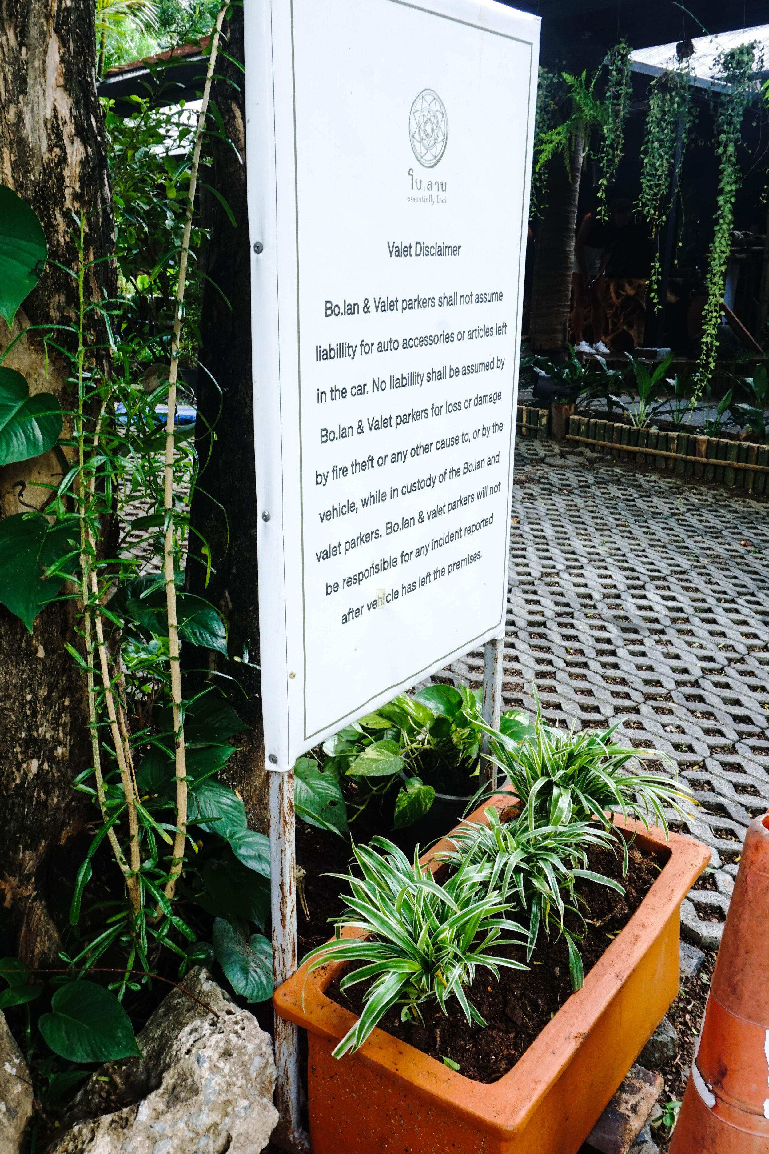 Bo.lan Edible Garden: Valet Parking near ZONE A - The House Front Garden