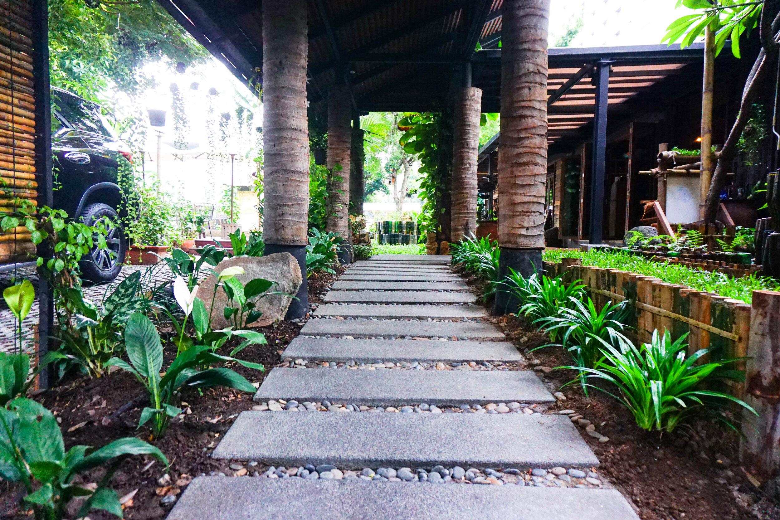 Bo.lan Edible Garden: Restaurant entrance in ZONE B - The Tiered Garden