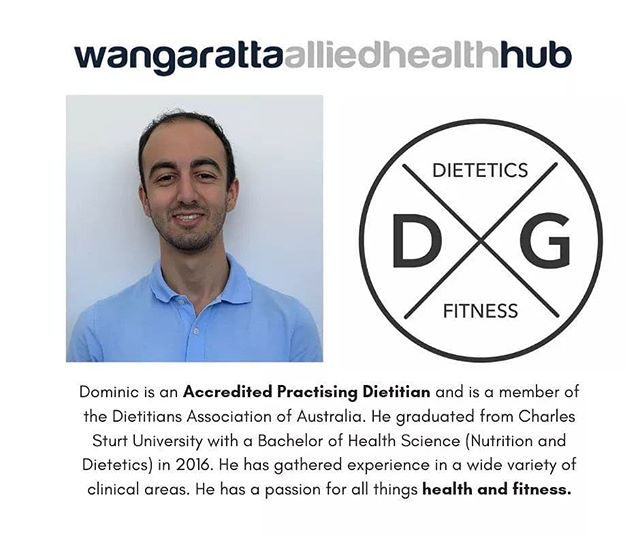 Awesome post from Wangaratta Allied Health Hub. It's a pleasure to be joining such a fantastic new clinic in Wangaratta.  Visit our website or call us to make a booking.  #wangaratta #dietetics #alliedhealth