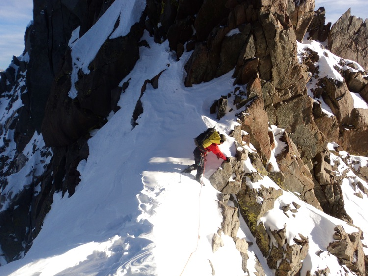 Konstantin navigates the ridge