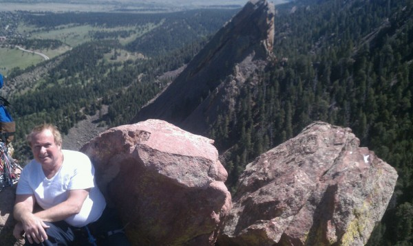 My dad at the top of the 1st Flatiron