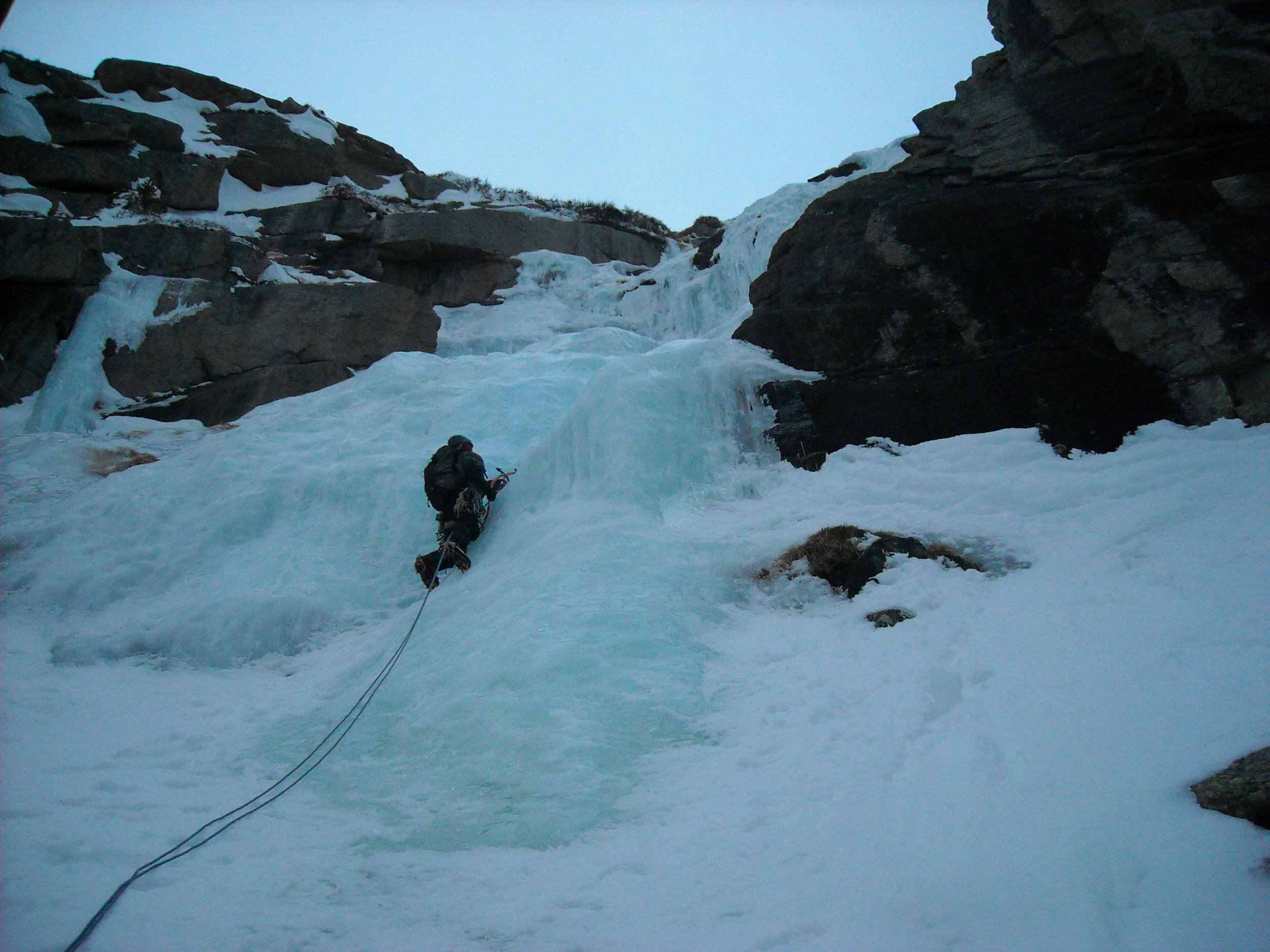 Gil Leading a simul-push of the West Gully