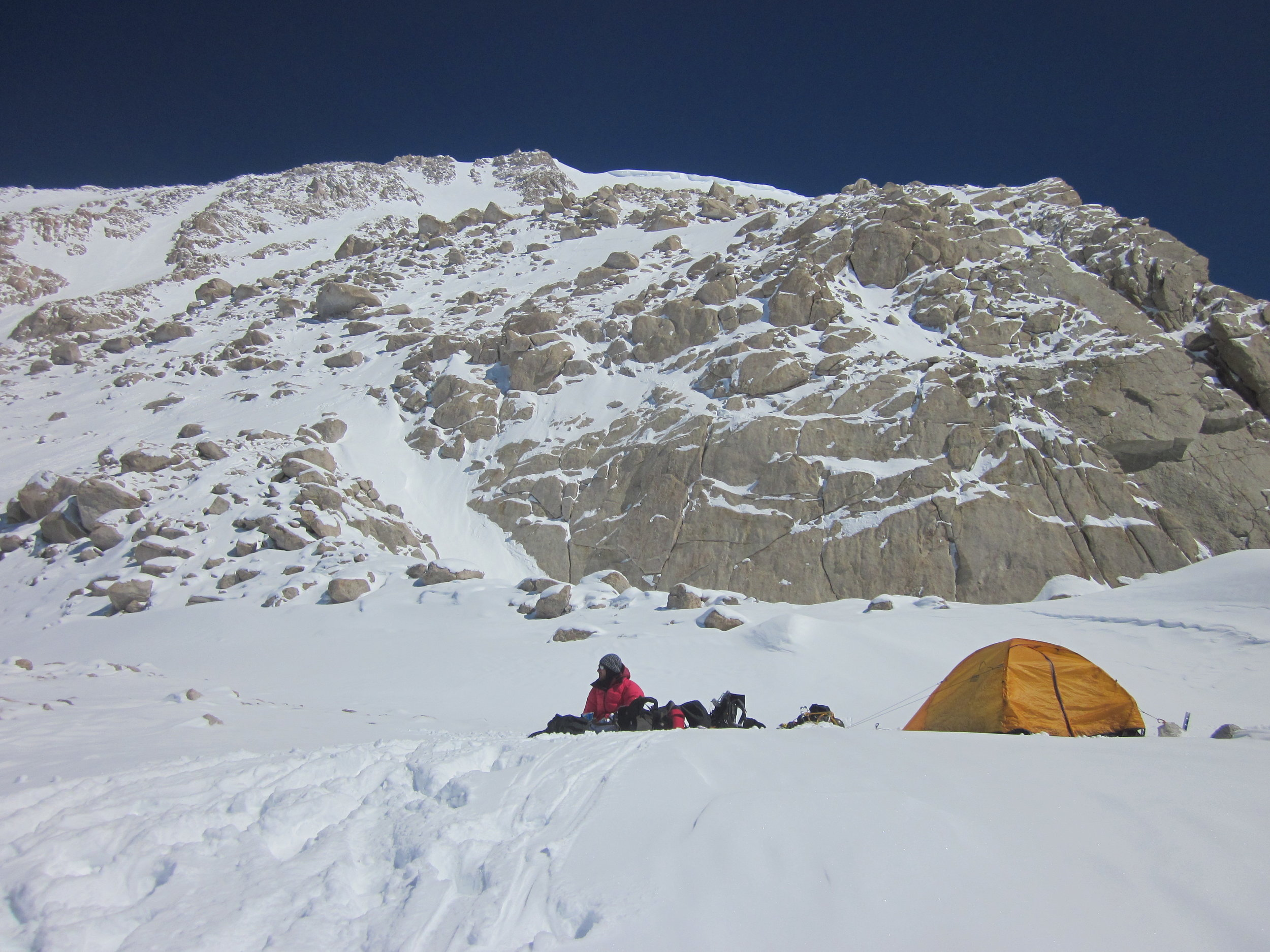 Balcony Camp and the summit