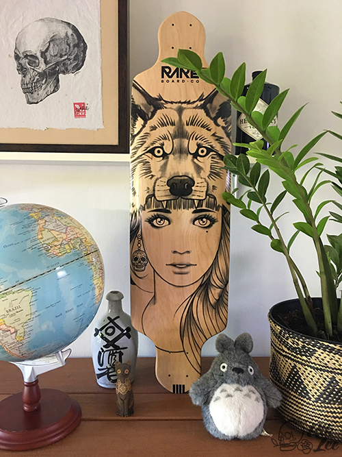 Rik Lee X Rare Skateboards - Wolf Girl Longboard