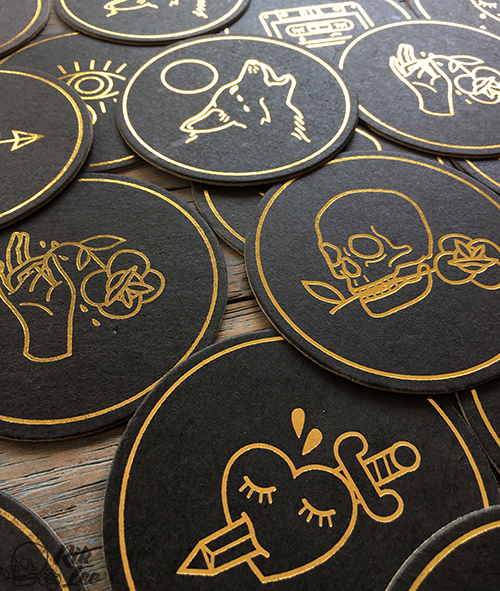 Hopeless Roamntic Drink Coasters