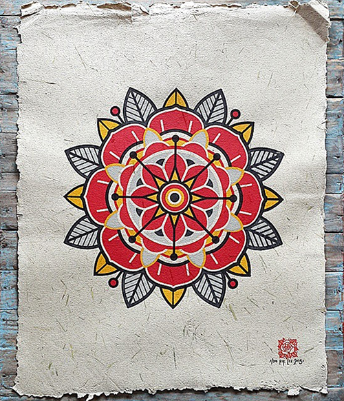 Mandala Screen Print