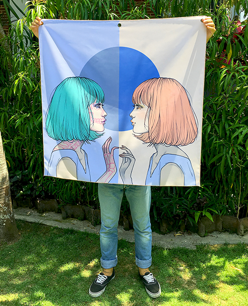 Evil Twin - Fabric Banner