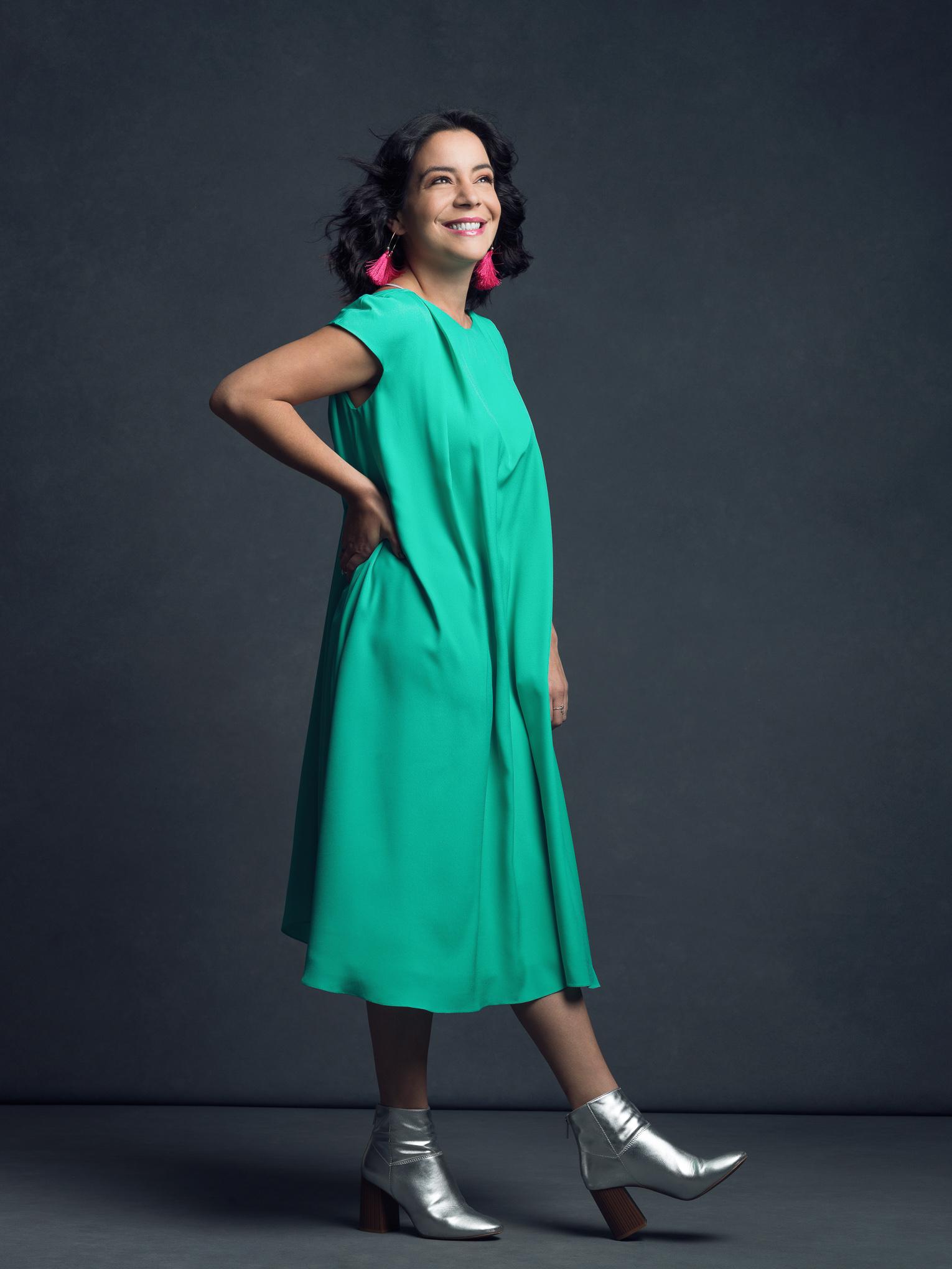 The Optimist Storyteller - Luchi Cosenza in the Nigella Dress
