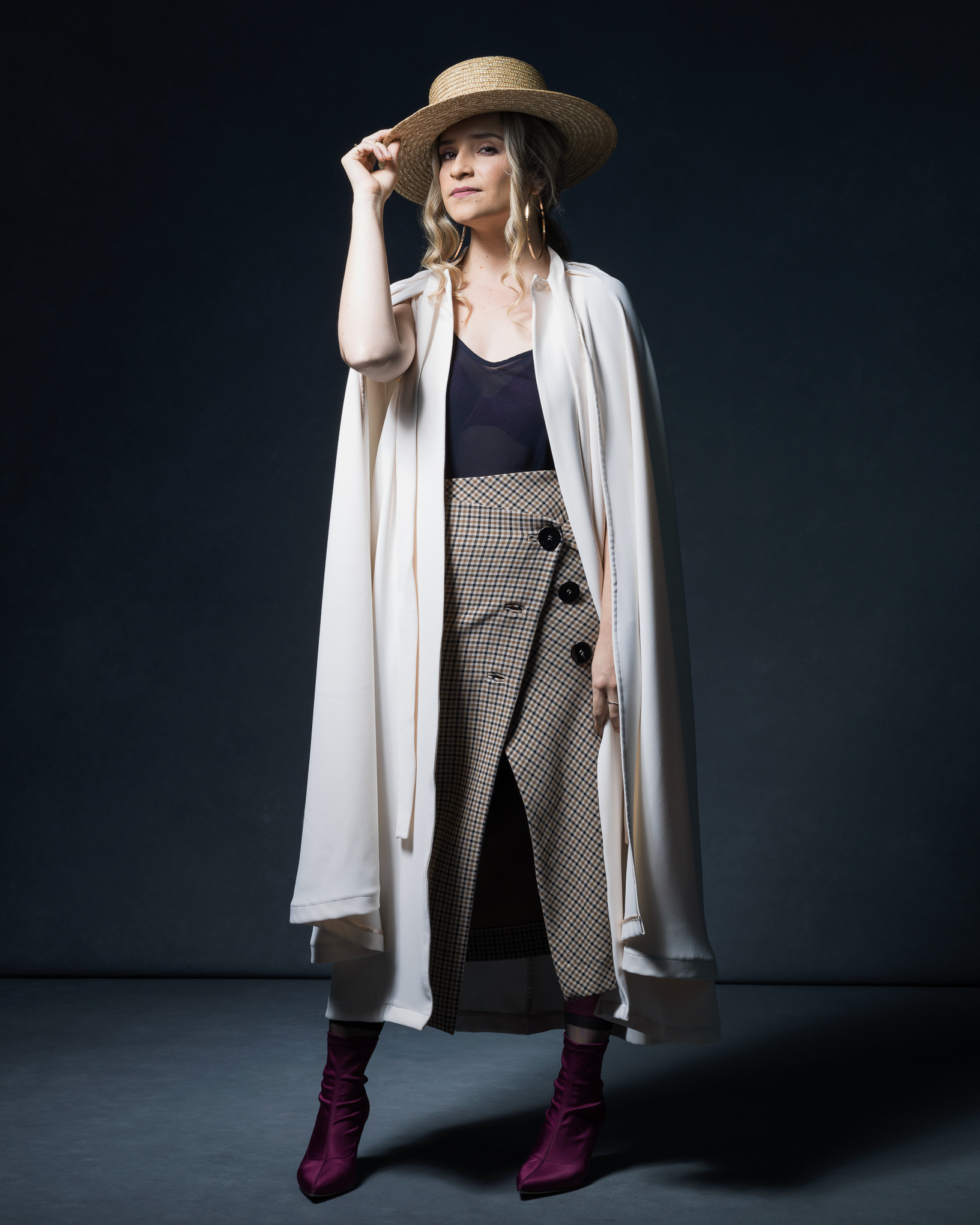 The Power Stylist - Luisa Allan in the Gloria Cape.