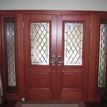 Diamond Beveled Glass Door Gallery