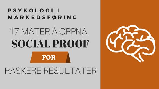 markedsføring psykologi social proof