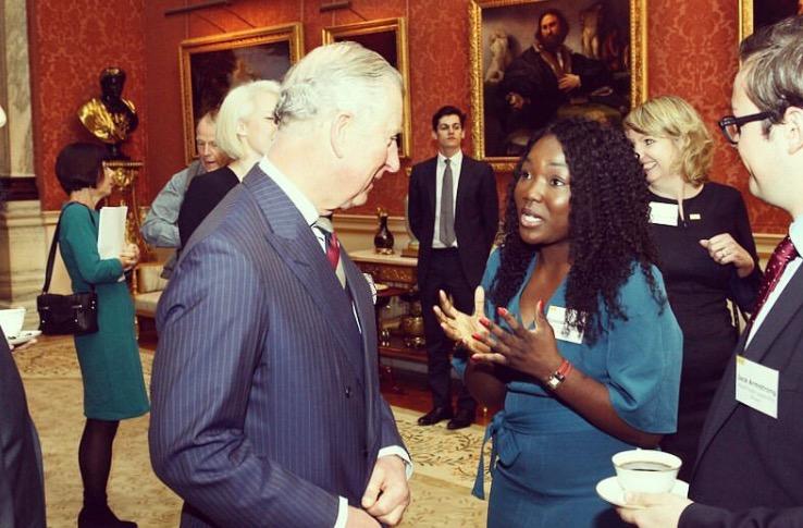 Image: Dunola meeting Prince Philip, Duke of Edingburgh