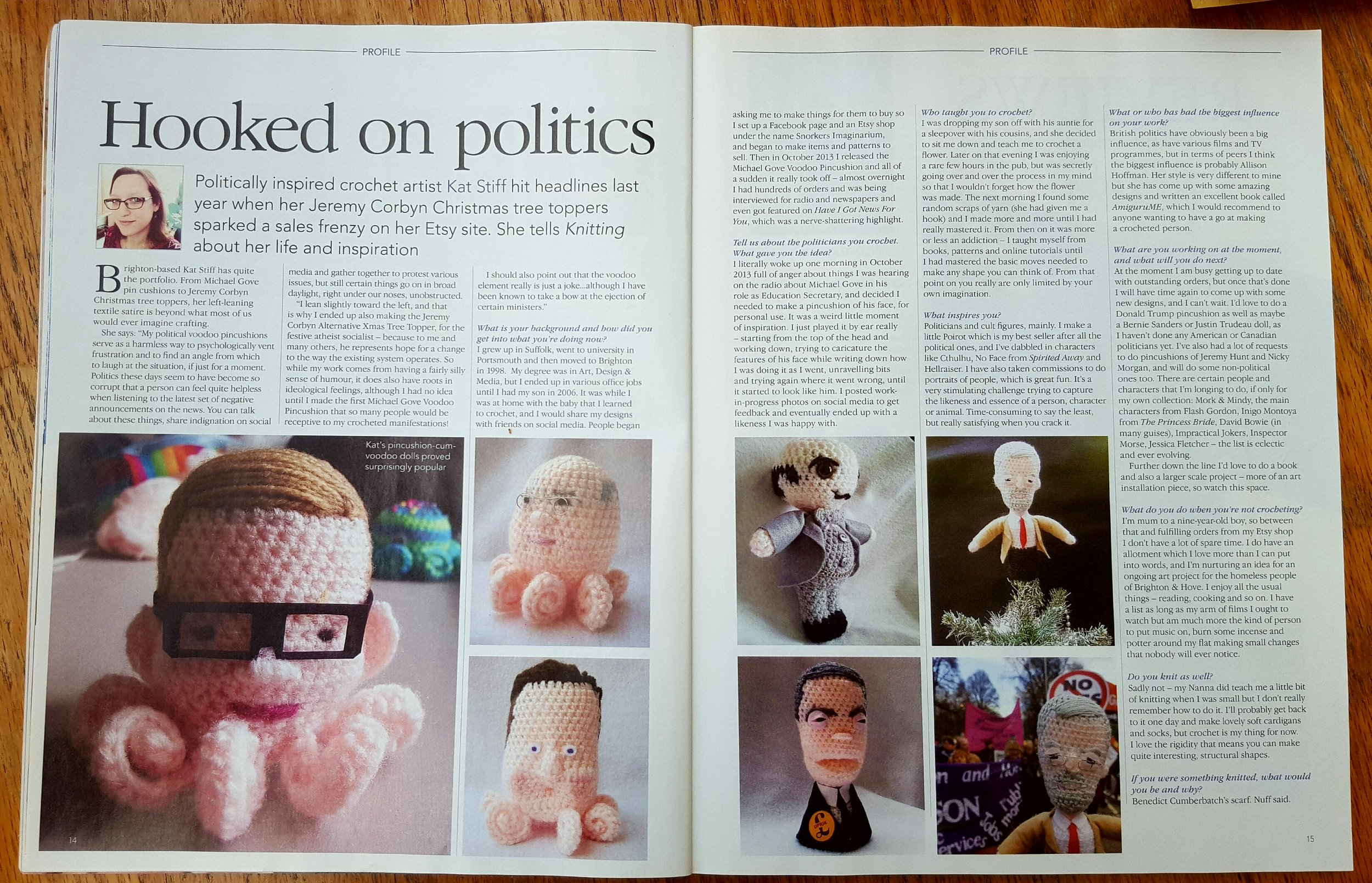 Snorkers Imaginarium in Knitting Magazine