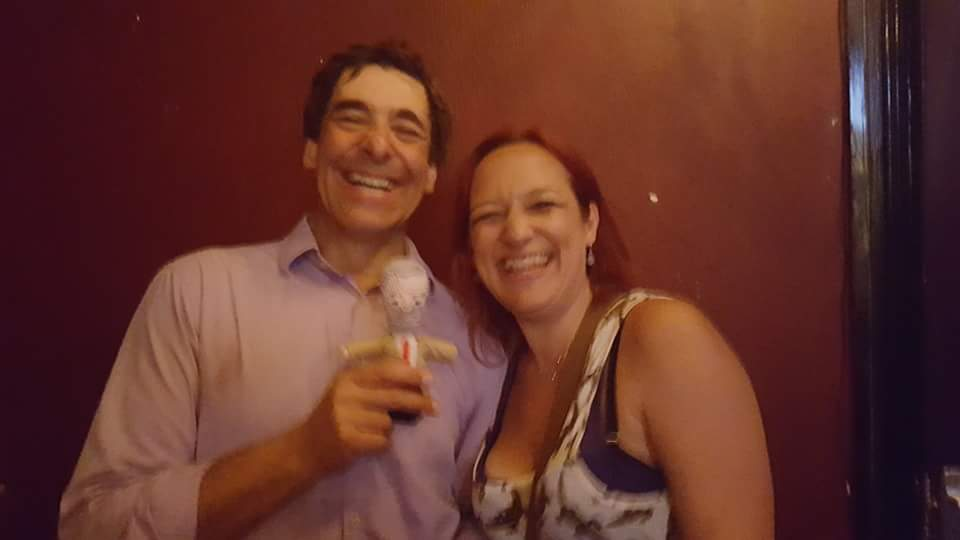 Mark Steel and Katrina Stiff