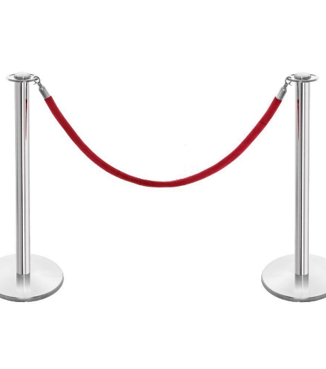 ROPE BARRIER SET ENTRANCE - Polished stainless steel posts with red rope make an effective queue and crowd control barrier at your event.Perfect combined with red carpet for the classic VIP entrance.£40 per unit, per day.Discount for larger requirements.Extra Hire Days HALF PRICE!Subject to delivery charge.