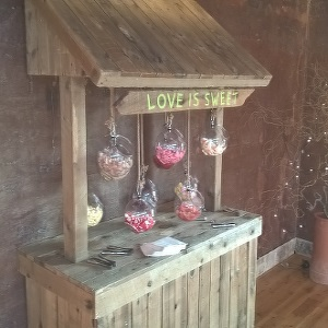 SHABBY CHIC SWEET STAND HIRE - Sweet stands are are still trending for weddings and parties. We can set up a dazzling sweet table guaranteed to delight your guests with a truly unique kid-in-a-sweetshop experience!