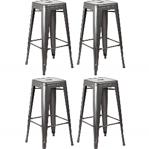 RUSTIC TOLIX STOOLS HIRE - Gunmetal grey, retro 1930s style designed stools, offered as a perfect accompaniment to our barrels, and looks superb in rustic style venues.Height 760mm