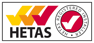We're HETAS registered to fit dry appliances. -