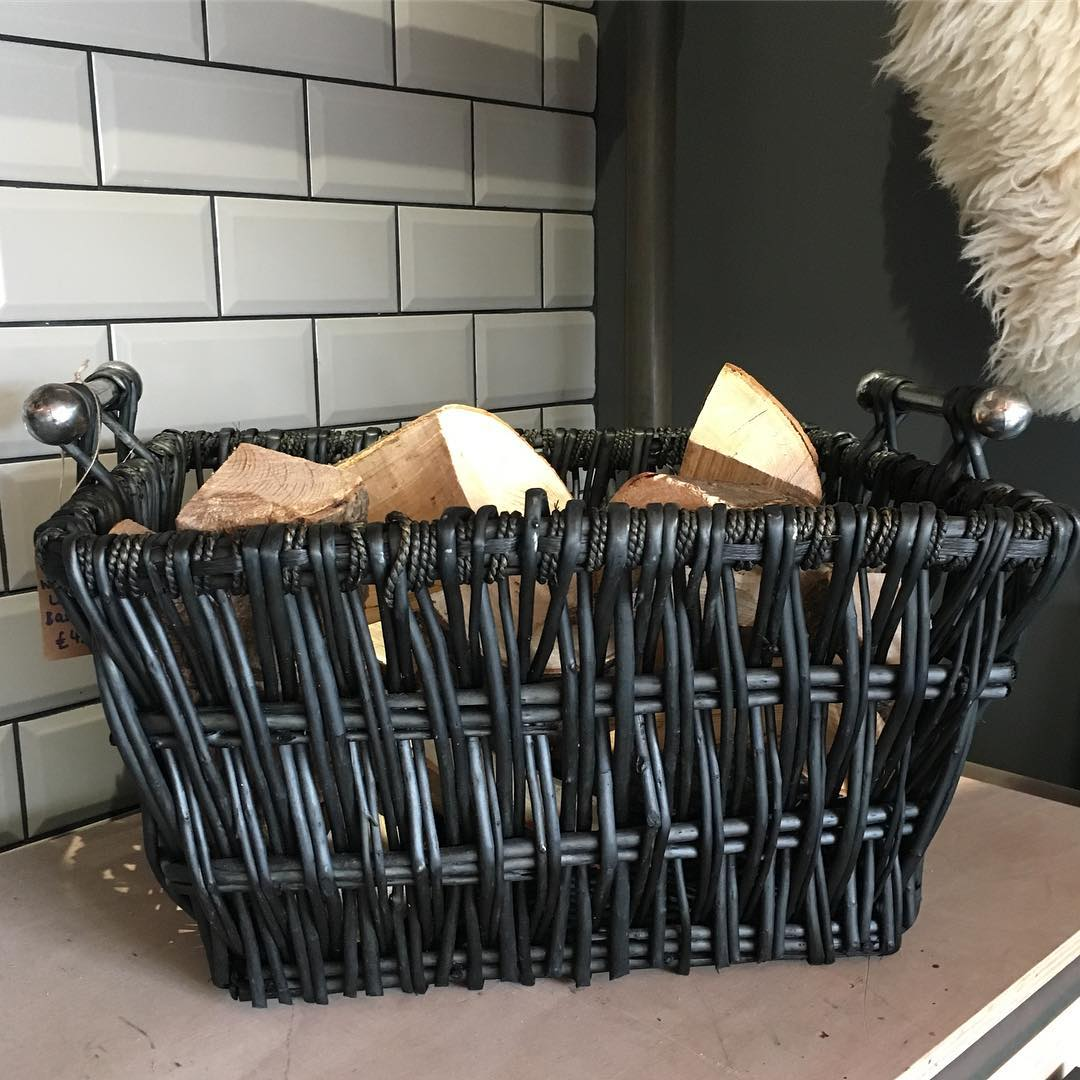 portishead stove co grey log basket