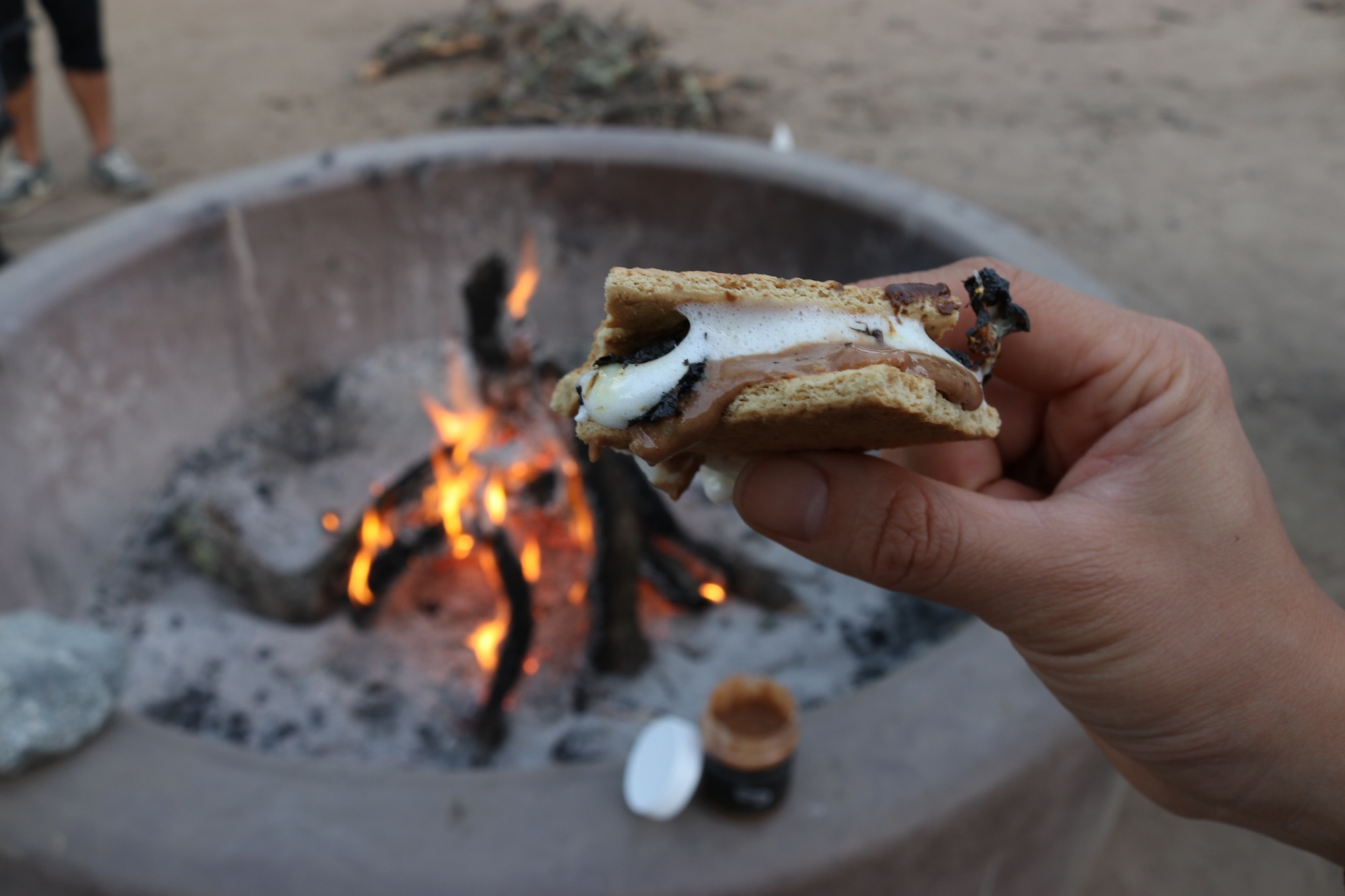 Chocolate Toffee S'mores - Click for recipe