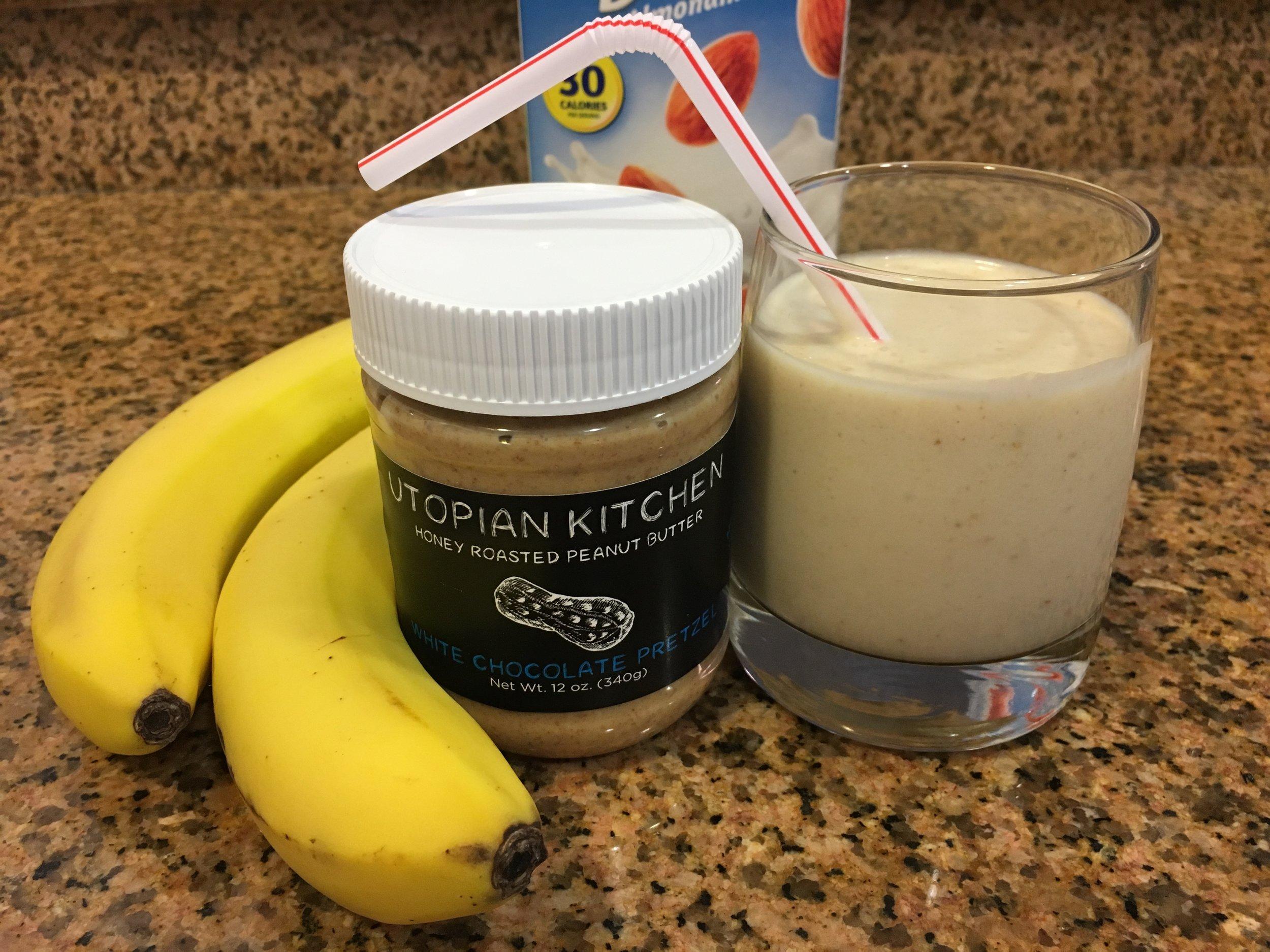 White Choc. Pretzel Banana Smoothie - Click for recipe