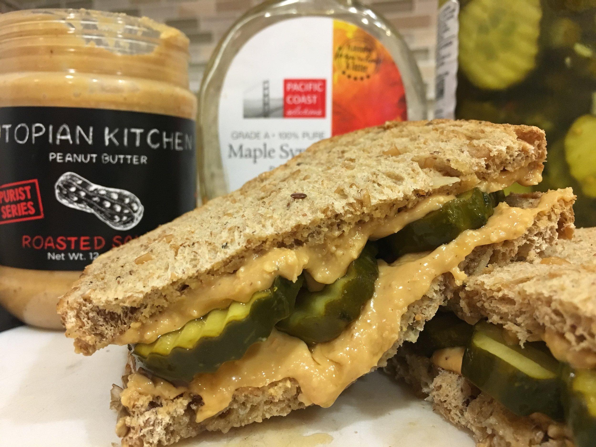 Peanut Butter & Pickle Sandwich -