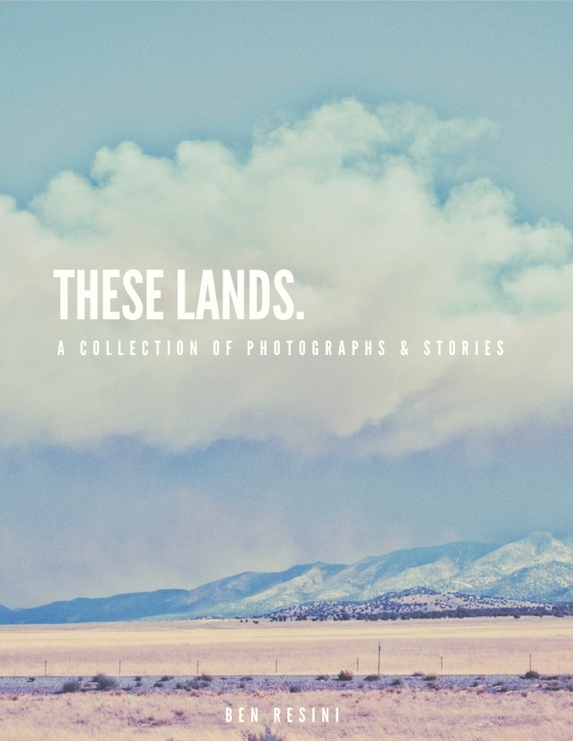 - These Lands chronicles personal experiences and vivid memories from a decade worth of traveling. Both a photo collection and journal of words, These Lands documents true snapshots of life away from home.Available June 1st, 2019