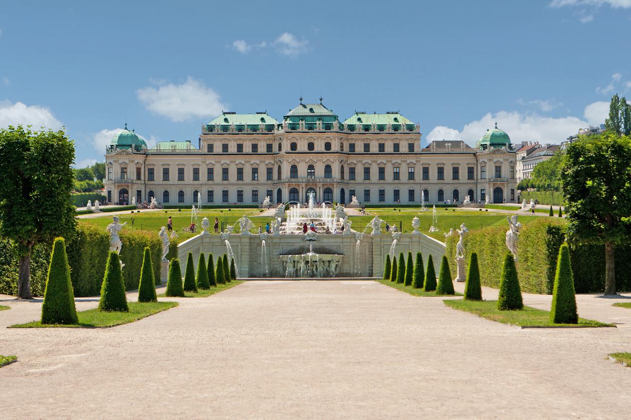 Palácio Belvedere, em Viena, na Áustria.