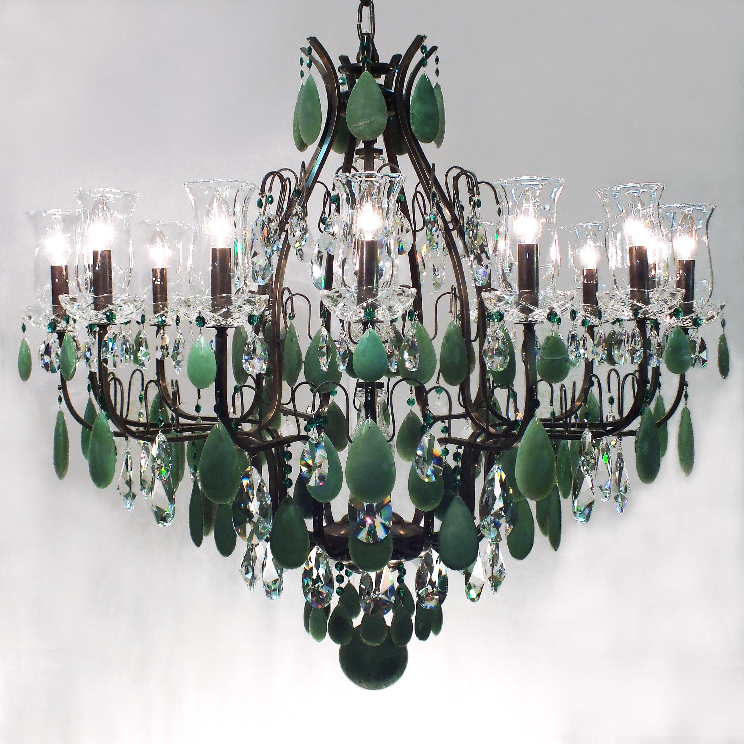 Lustre Mântova Emerald 14 braços.