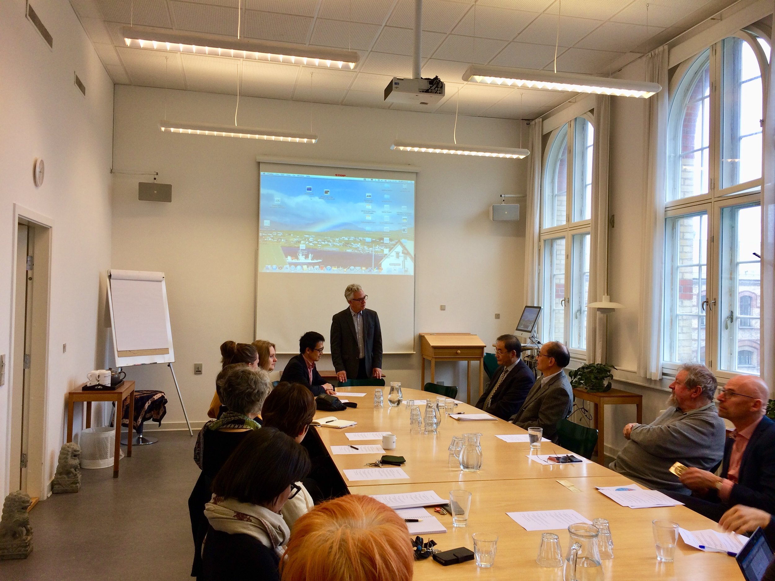 Geir Helgesen, Director of Nordic Institute of Asian Studies, opening the seminar
