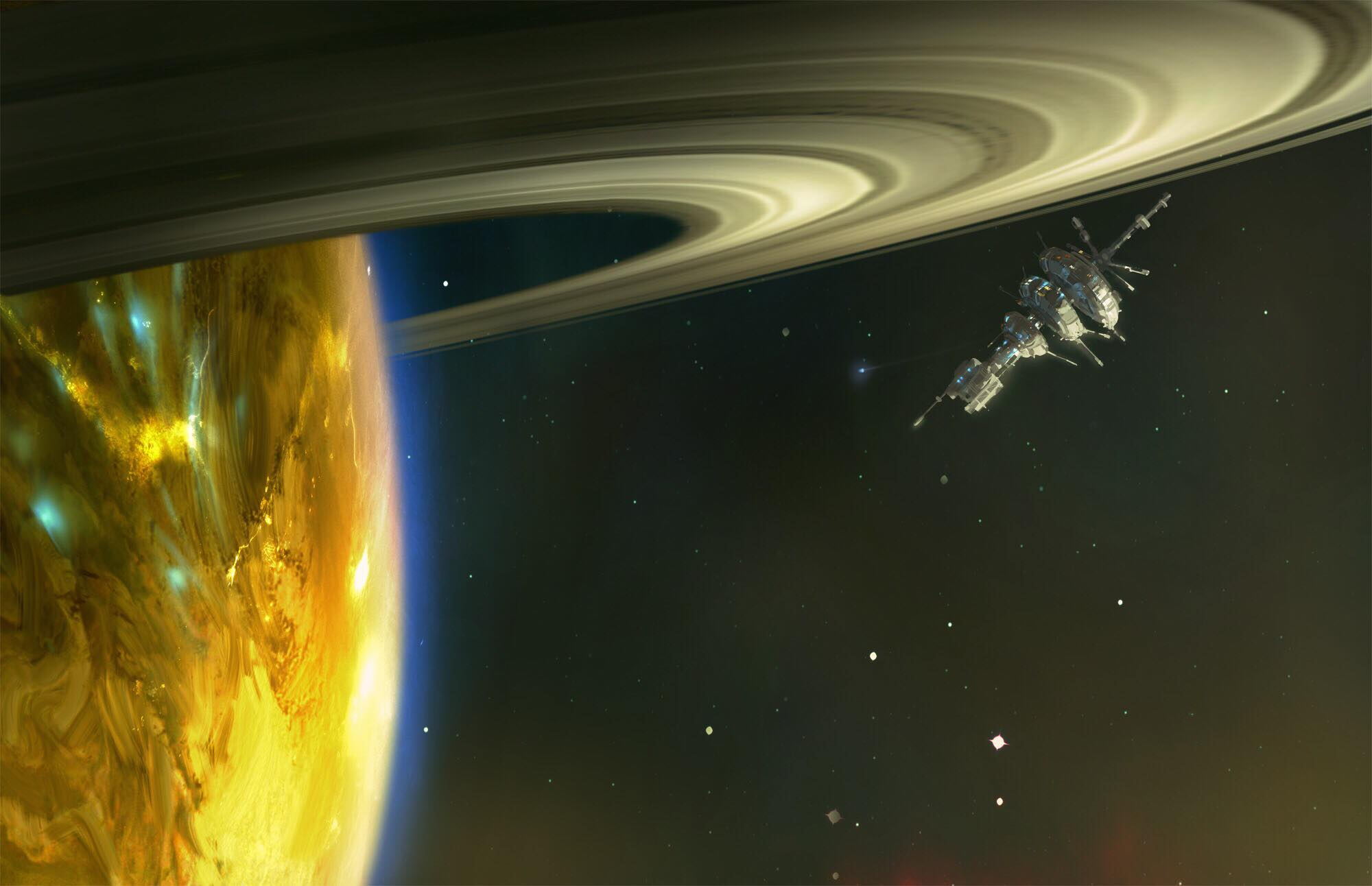 Station FS-7 orbiting the gas giant Xene in the Kua system.