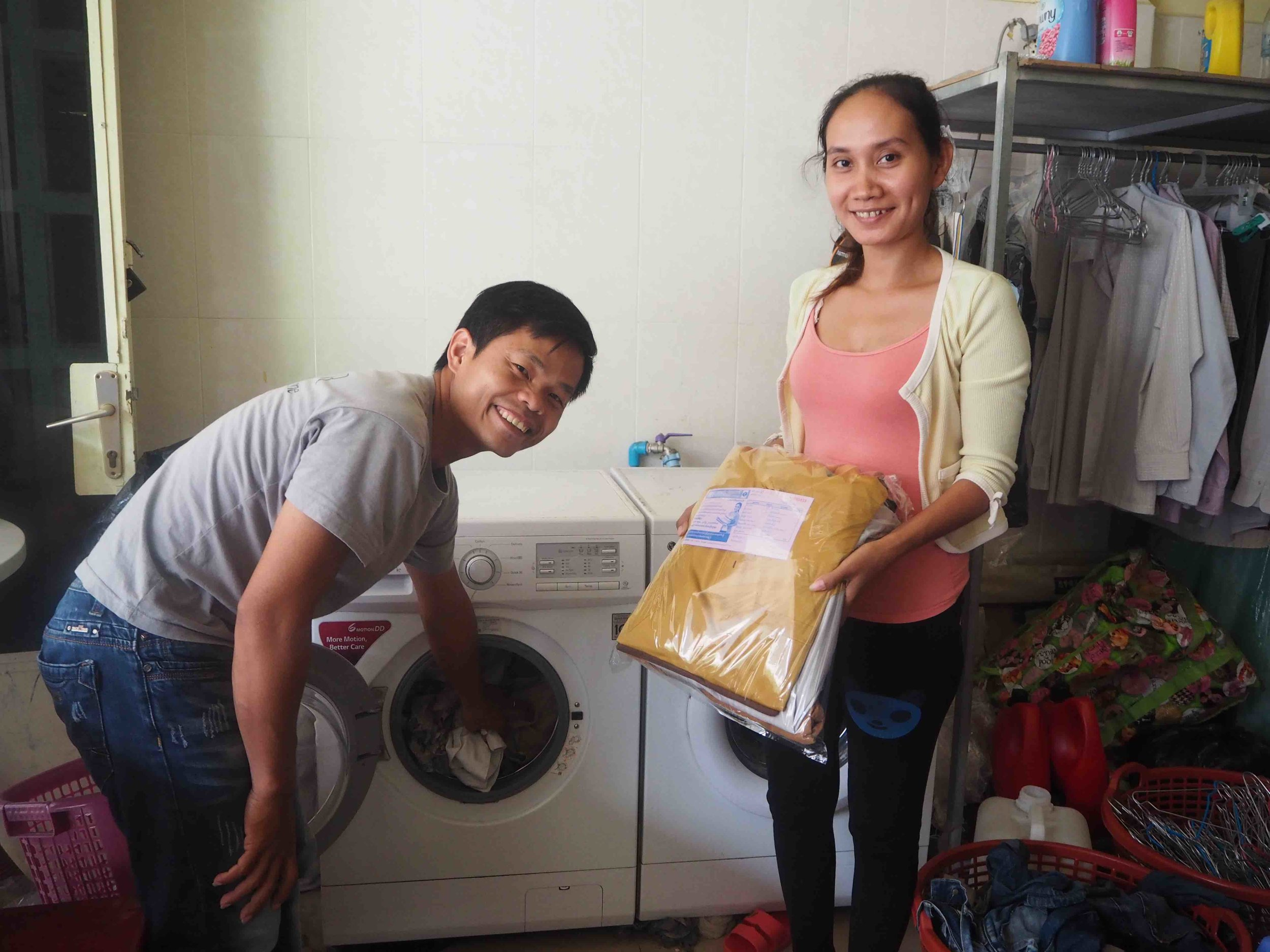 Asian Happiness Laundry    Loan:  Washing machines to increase capacity, create new jobs, and provide vocational training for vulnerable people in their local community