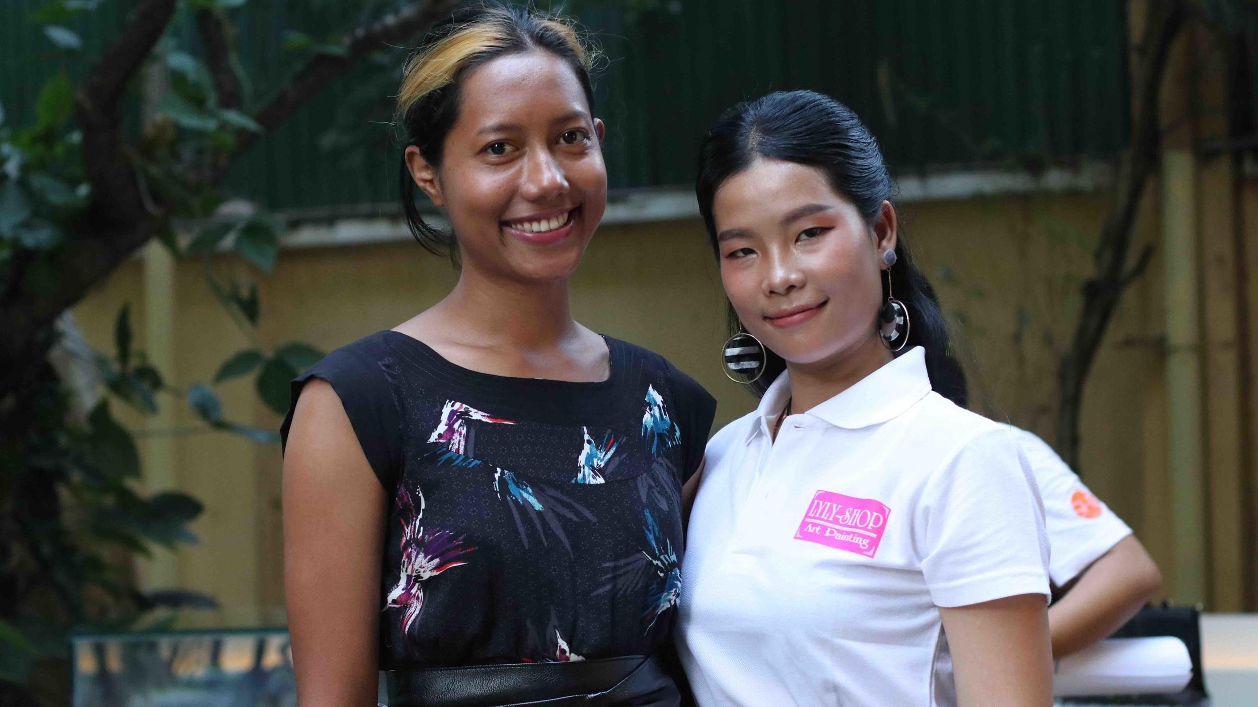 Vichka Vantha of Dai Khmer, and Hengly Eng of LYLY Shop