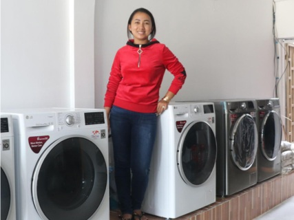 Mom's Hand Laundry   Mrs. Hum Solaro intends to build her brand, meet increasing customer demands, and expand her target clientele to include hotels, gyms, restaurants, etc. A grant of $5,015 has provided her with 6 new washing machines, 4 steamers, ironing equipment and dryers to increase operational efficiency.  For her repayments, she will train 14 people from local communities in general laundry and job skills so they can apply for other laundry businesses, save money for their family, or start their own laundry business.